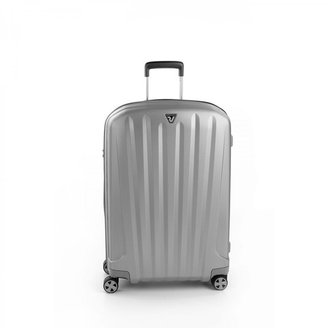 Чемодан пластиковый Roncato UNICA MEDIUM TROLLEY 72 CM SILVER