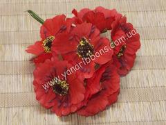 Букет цветов Дикий мак красный
