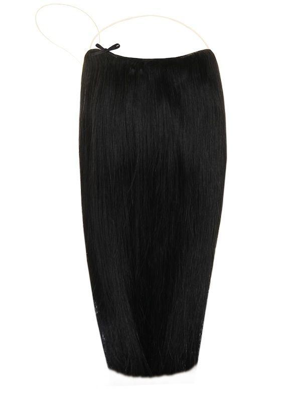 Волосы на леске Flip in- цвет #1- натуральный черный