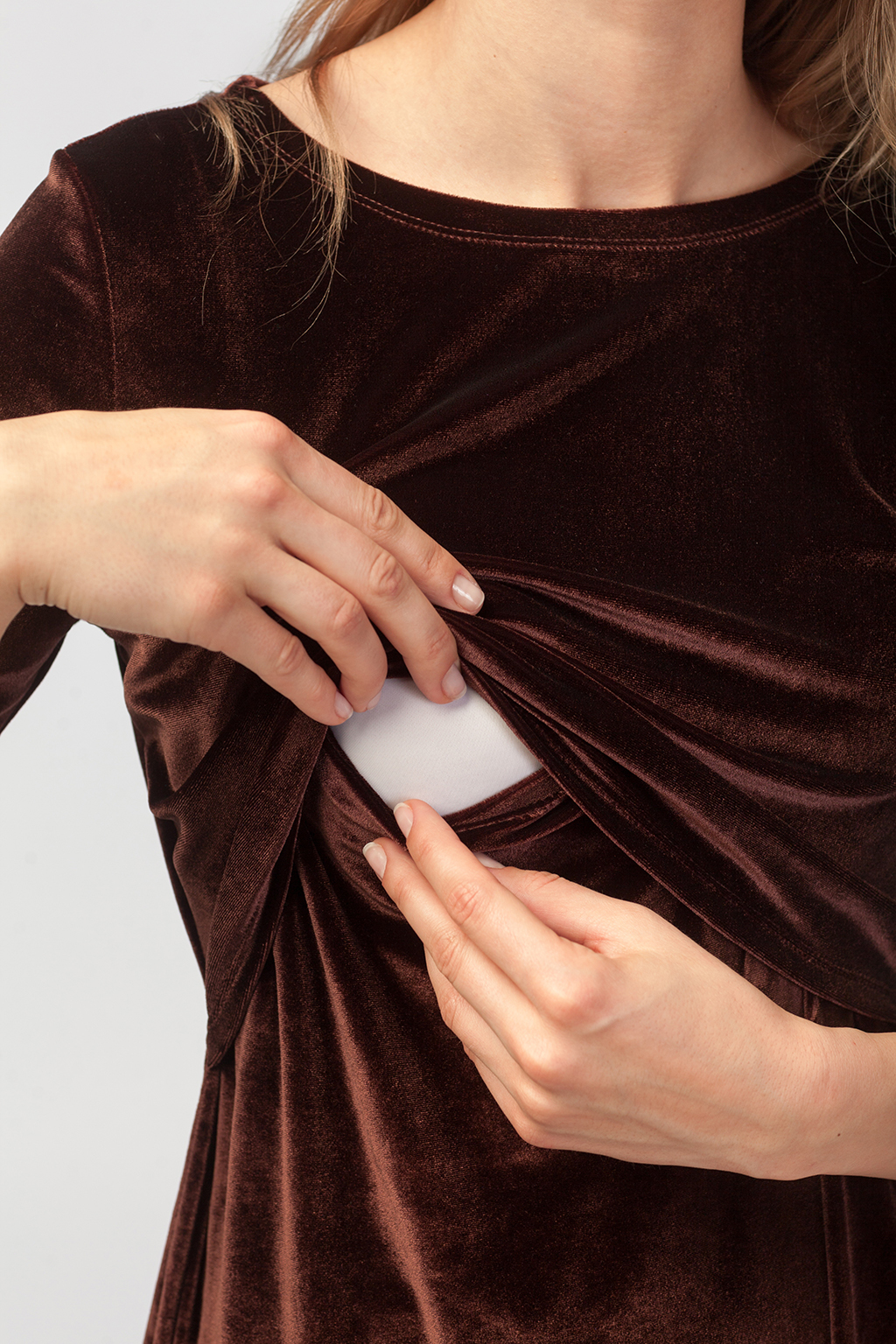 Платье для будущих и кормящих мам Бархатный вечер - Фото 5