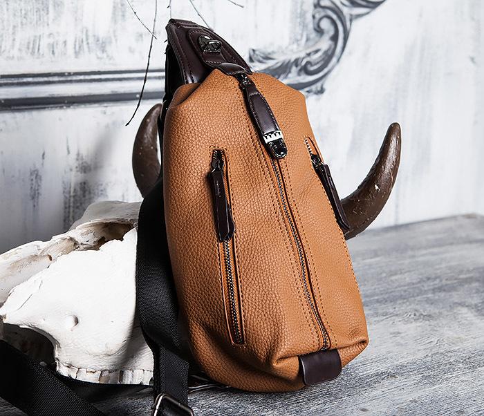 BAG422-2 Мужская сумка из кожи за спину с одной лямкой