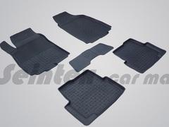 Резиновые коврики для  CHEVROLET AVEO II, высокий борт