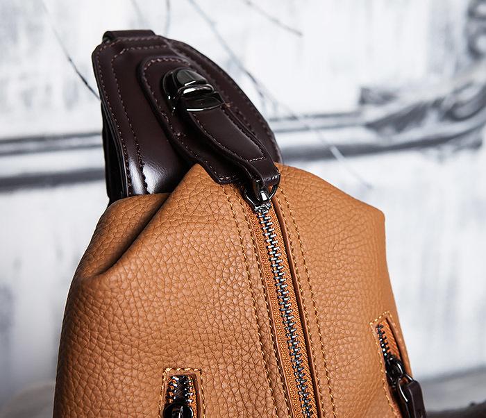 BAG422-2 Мужская сумка из кожи за спину с одной лямкой фото 03