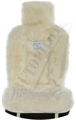 Накидка из натурального меха (Овчина, комбинированный ворс, цельная шкура, Австралия)