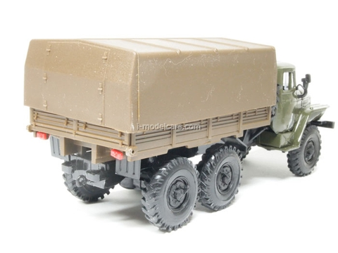 Ural-4320 with awning khaki-brown Elecon 1:43
