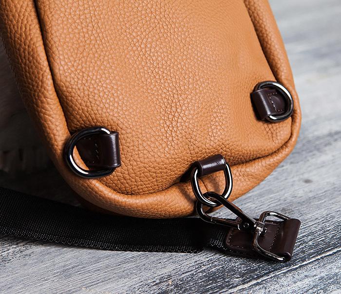 BAG422-2 Мужская сумка из кожи за спину с одной лямкой фото 04