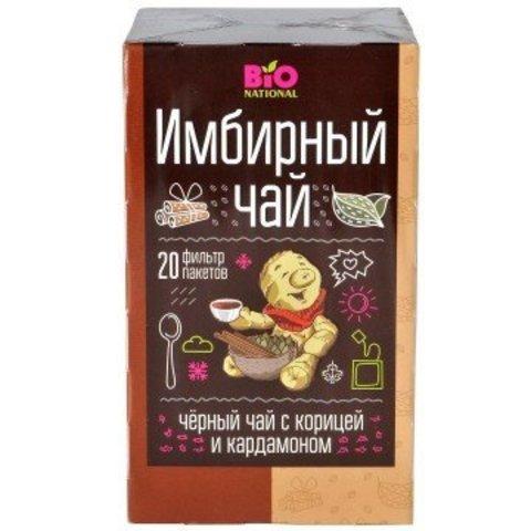Чай Имбирный черный с корицей и кардамоном, 20 пак. (Фора-Фарм)