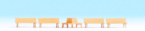 Скамейки деревянные - 5 шт, (H0)