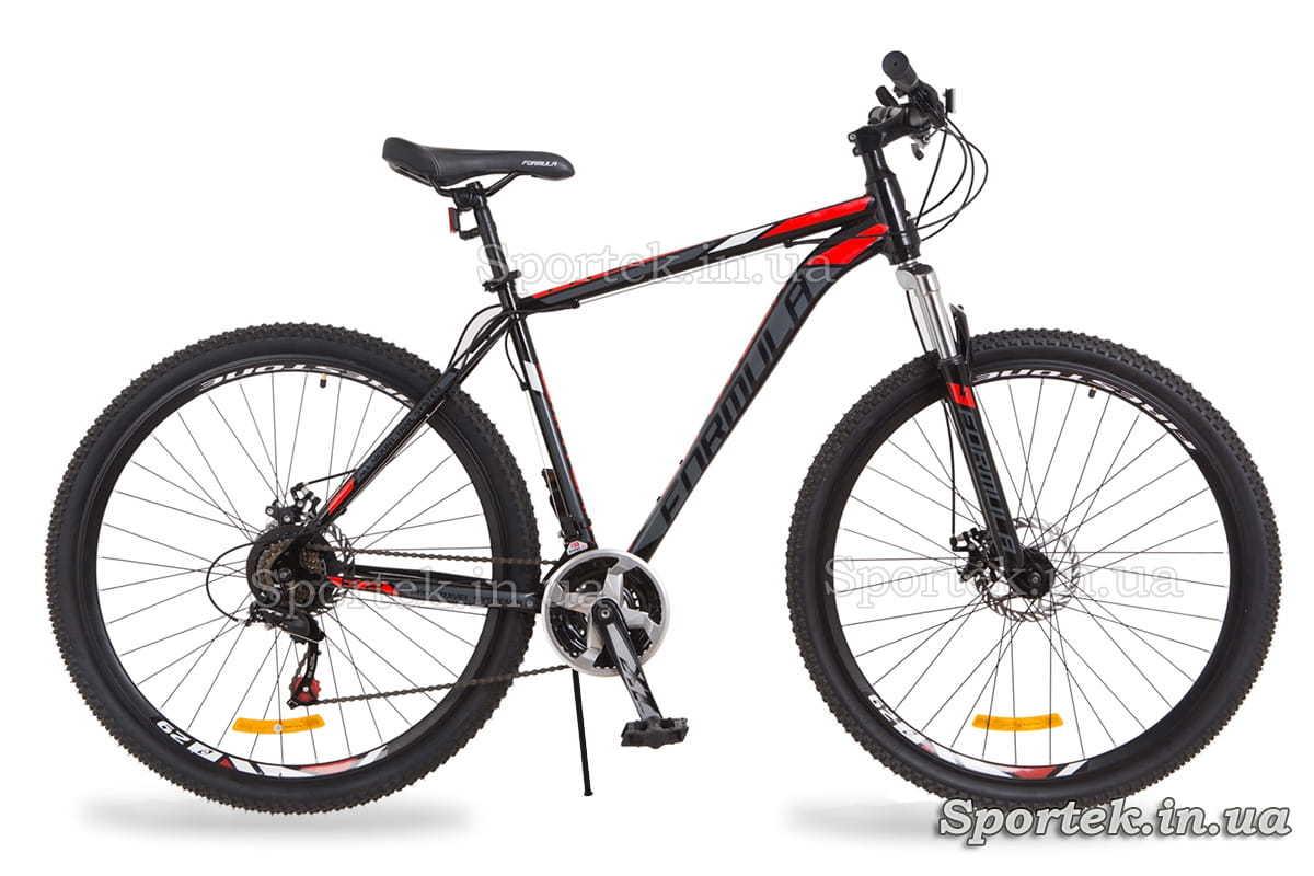 Черно-красный горный мужской велосипед Formula Atlant DD (Формула Атлант)