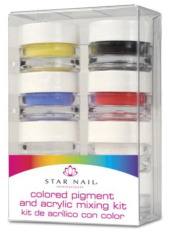 Набор цветных акриловых пигментов 8х3,55г
