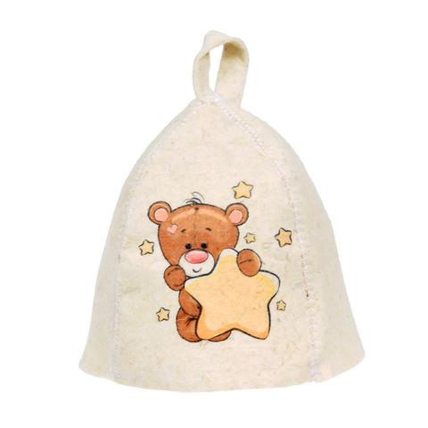 Шапка детская «Мишка», войлок 100%