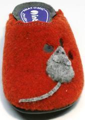 Домашние тапочки прикольные женские Inblu NC- 1B Mouse Rad