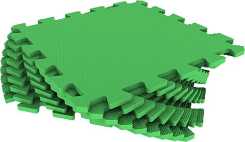 Набор мягких плиток 30*30 см. Зеленый. Коврики-пазлы.
