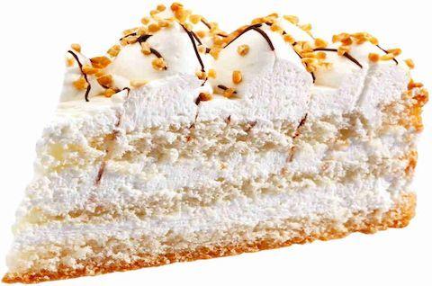 Кусок торта Пломбир без глютена и сахара