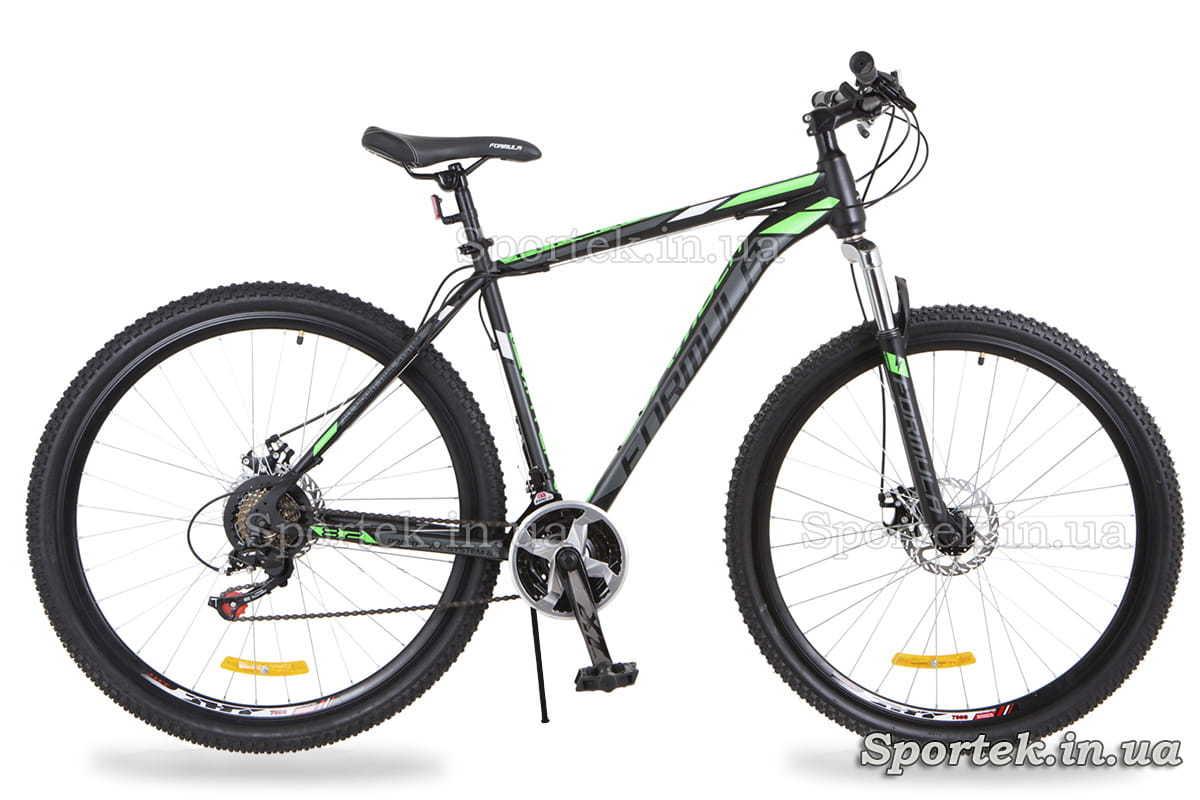 Черно-салатовый горный мужской велосипед Formula Atlant DD (Формула Атлант)