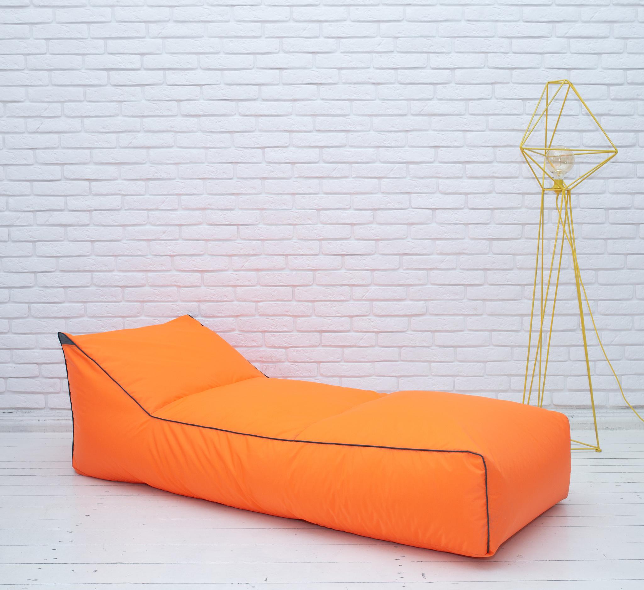 Шезлонг плащёвка (неоново-оранжевый)