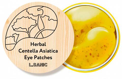 Гидрогелевые патчи с экстрактом центеллы L.SANIC Herbal Centella Asiatica Hydrogel Eye Patches