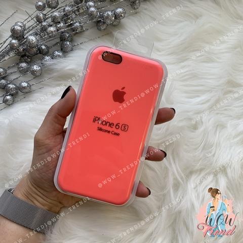 Чехол iPhone 6/6s Silicone Case /coral/ коралл 1:1