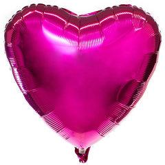 Шар сердце пурпурный