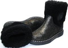 Модные полусапожки без каблука Kluchini 13044 k289