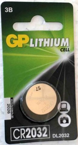 Элемент питания GP CR2032-BC/1/10