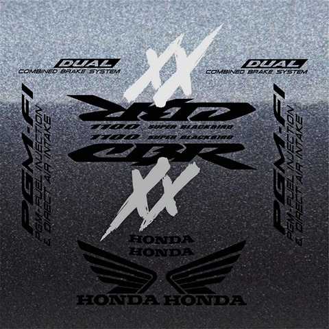 Набор виниловых наклеек на мотоцикл HONDA CBR 1100XX 2004
