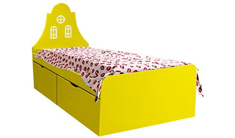 Детская кровать желтая