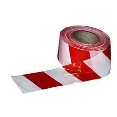 Лента сигнальная красная/белая 75 мм x 100 м