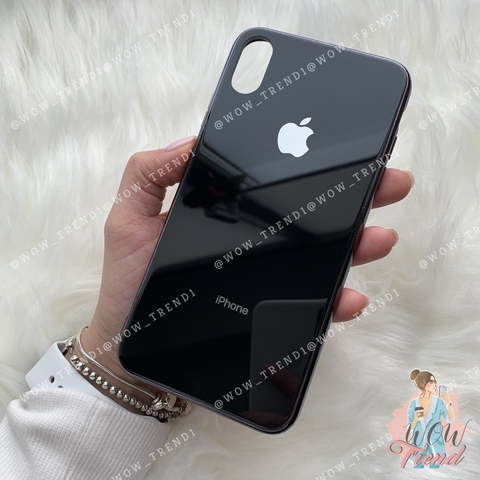 Чехол iPhone XR Glass Case Logo /black/