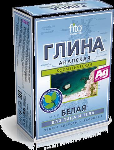 Фитокосметик Глина сухая белая Анапская 100г