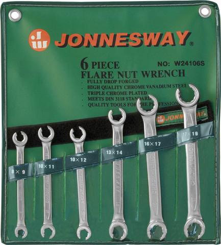 W24106S Набор ключей гаечных разрезных в сумке, 8-19 мм, 6 предметов