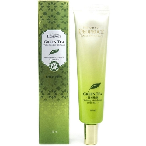 Крем ББ PREMIUM DEOPROCE GREEN TEA TOTAL SOLUTION BB CREAM SPF50+PA+++ 40 мл