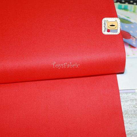 Ткань для пэчворка хлопок однотонный красный 20664 (45х55см)