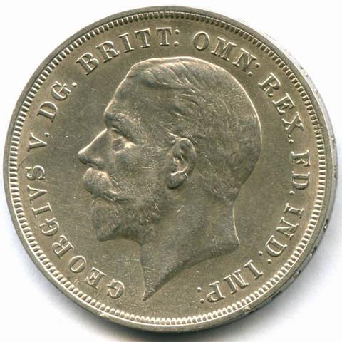 1 крона 1935 Англия (25 лет Правления Георга V) XF