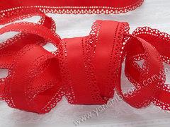 Лента репсовая Перфорированная красная ширина 30 мм