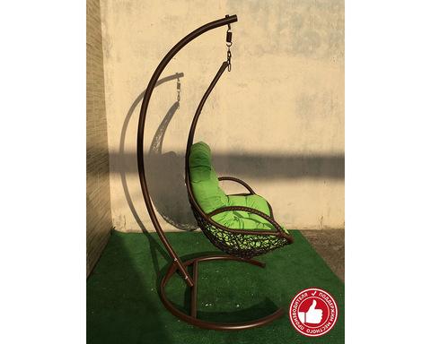 Подвесное кресло из ротанга Грация коричневое
