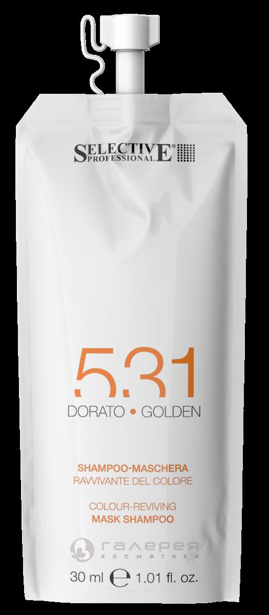 Золотистый Шампунь-маска для возобновления цвета волос