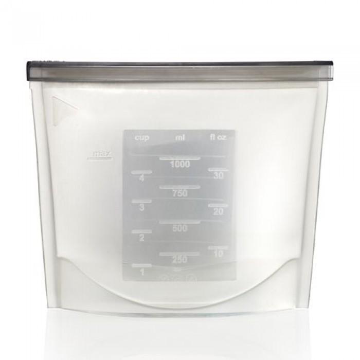 Силиконовый пакет-контейнер для хранения продуктов с застежкой 2621 см Белый фото