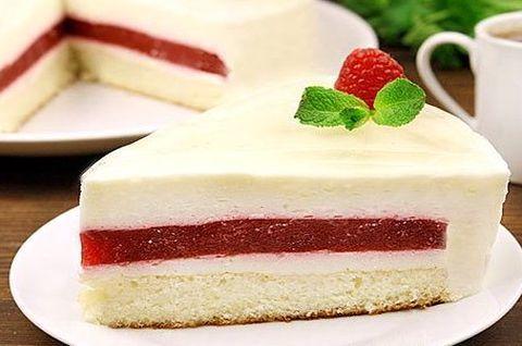 Торт Пломбир без глютена с шоколадной прослойкой без сахара