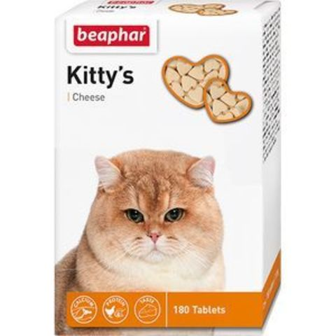 12594 Беафар Витамин Китти Лецитин д/кошек со вкусом сыра 180таб.*12*60