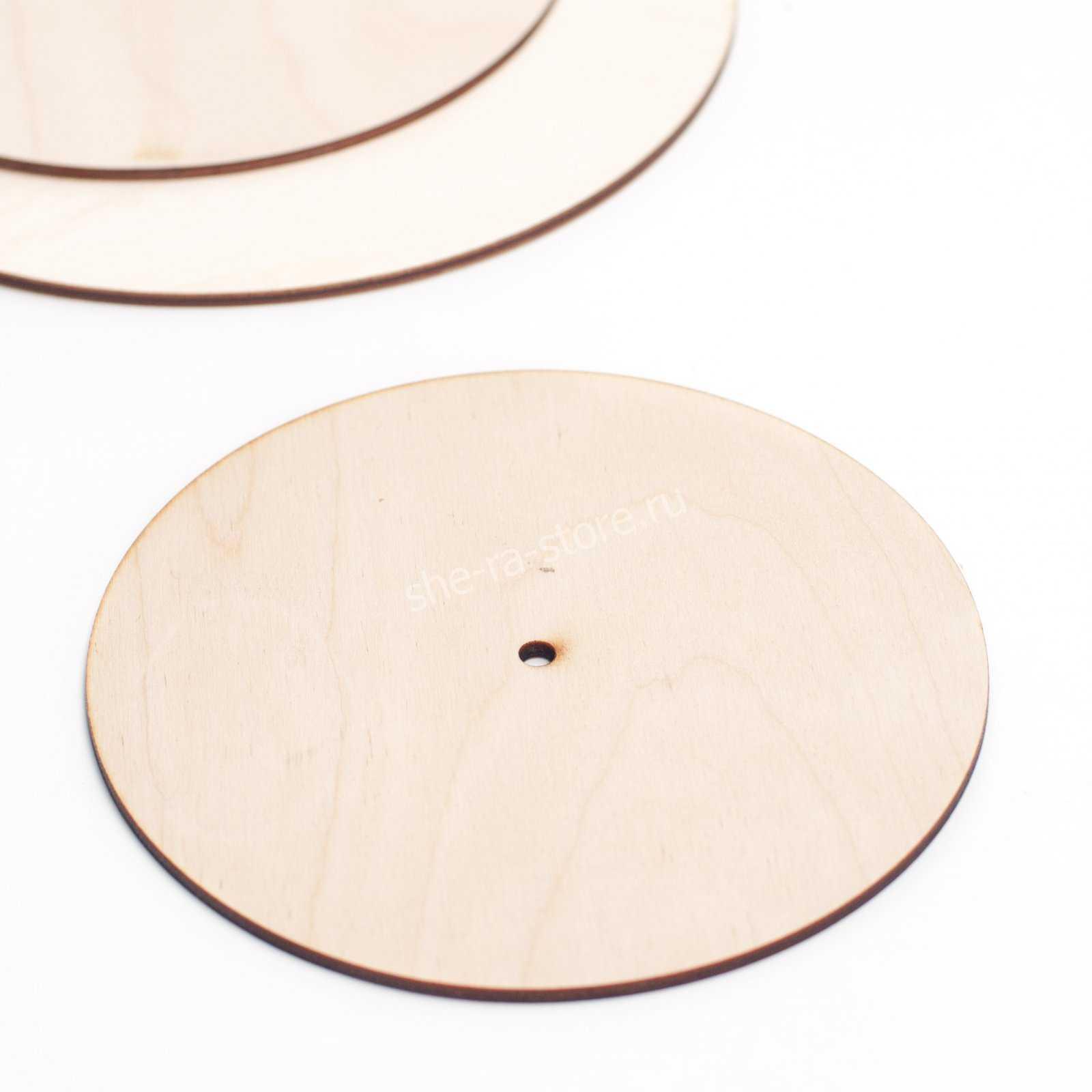 Подложка усиленная с отверстием для оси, диаметр 22см.