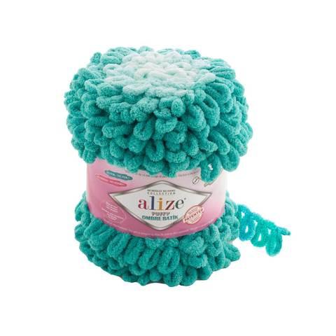 Купить Пряжа Ализе Пуффи Омбре Батик - цвет 7420 | Интернет-магазин пряжи «Пряха»