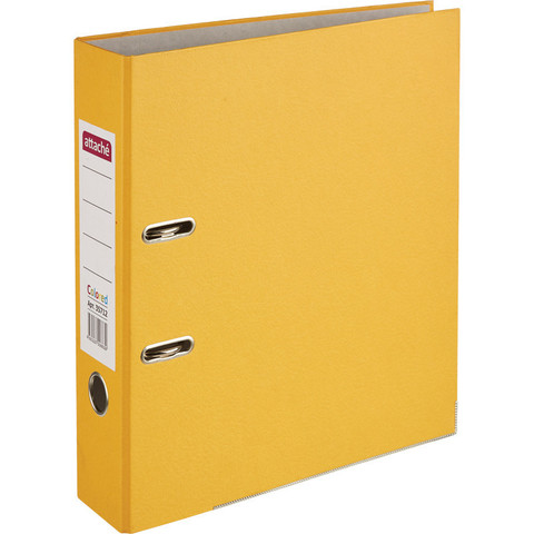 Папка-регистратор Attache Colored light 75 мм оранжевая