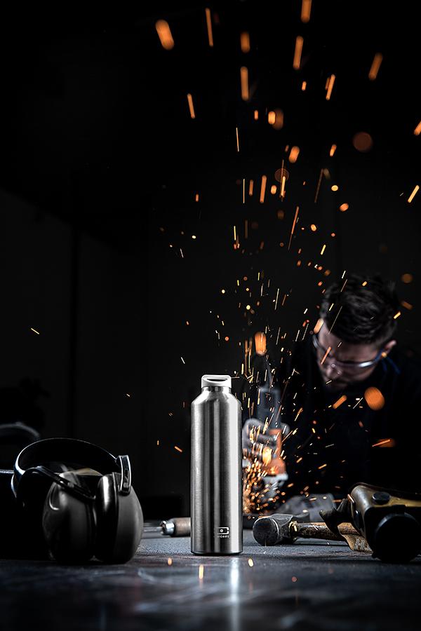 Термос с фильтром-ситечком для заваривания чая MB Steel 500 мл серебристый, нержавеющая сталь Monbento 4011 01 000 | Купить в Москве, СПб и с доставкой по всей России | Интернет магазин www.Kitchen-Devices.ru