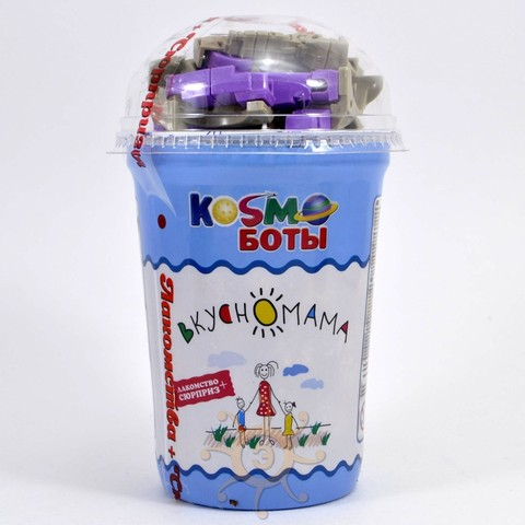 """Кукурузные шарики в глазури """"Космоботы"""" с игрушкой Вкусномама, 30г"""
