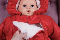 Зимний конверт с ручками для новорождённых Sky красный