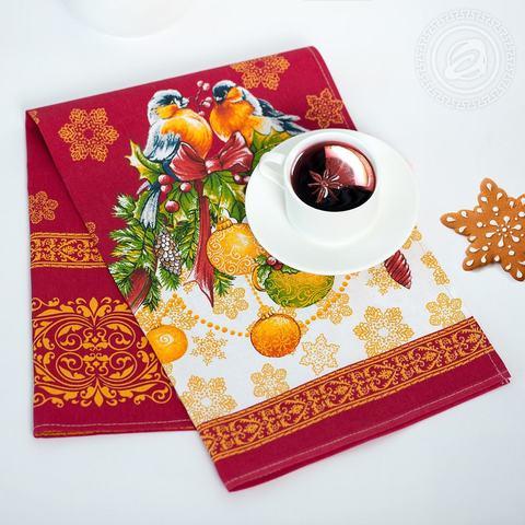Кухонное полотенце из рогожки