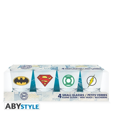 Рюмка ABYstyle: DC COMICS: Emblem набор 4шт.  ABYVER086