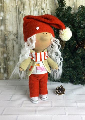 Лялька Гномочка з колекції - Honey Doll. Різдв'яна серія