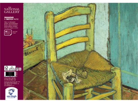 Альбом для зарисовок Royal Talens Van Gogh National Gallery, 160 гр/м.кв, А3, 40 листов на спирали